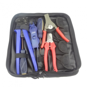 MISOL Kit of PV Crimper for MC3 MC4 Connector, PV cable cutter, crimp tool