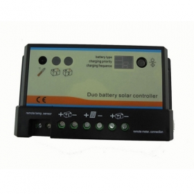 MISOL 10A Duo-battery solar charge controller 12/24v, for two battery charging, solar regulator, NEW , (SCC-EPIP-D10)