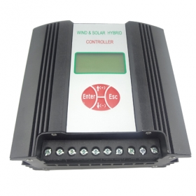 MISOL Hybrid Wind Solar Charge Controller 600W 24V(VAC input), RS Communication, Low Voltage Charge Function
