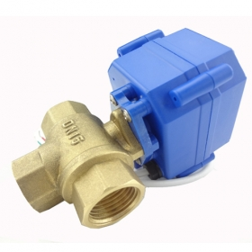 MISOL 3 way motorized ball valve DN15 (reduce port), electric ball valve( T Port), motorized valve