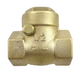 "MISOL 10 PCS of horizontal check valve, 1/2"", DN15, Brass non return valve"