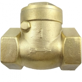 "MISOL 10 PCS of horizontal check valve, 1"", DN25, Brass non return valve"