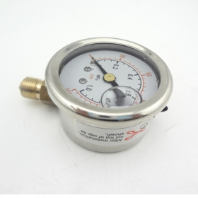 "MISOL 1 unit Pressure gauge 140 PSI 10 Bar brass bar, Radial connection, BSP 1/8"", SWH-PG-R-1mp-1"