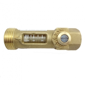 MISOL 10 PCS of Brass Flow Meter Balancing Valve flow sensor for hot water system