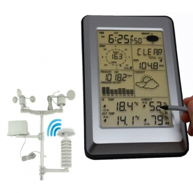 MISOL Professional Wireless Weather Station Touch Panel w/ Solar sensor, w/ PC interface