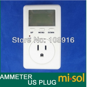 MISOL USA Plug Ammeter Energy Power Watt Voltage Volt Meter Monitor Analyzer