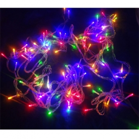 MISOL Waterproof 10M 100LED Christmas string light RGB mixed color LED bulbs for Christmas fairy party, 220v with EU plug