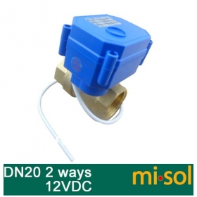 MISOL motorized ball valve DN20 (reduce port) , 2 way, electrical valve, motorized valve