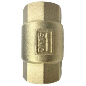 MISOL 10 UNITS OF BRASS NON RETURN VALVE DN15 Vertical CHECK VALVE for water oil air