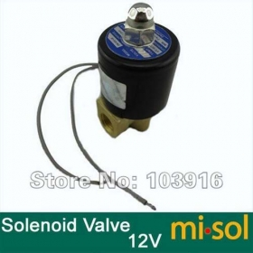 "MISOL New DC 12V Electric Solenoid Valve 1/4"" for Air Water Gas Diesel"