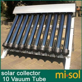 MISOL 10 Evacuated Tubes, Solar Collector of Solar Hot Water Heater, Vacuum Tubes, new