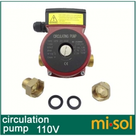 MISOL 110v Brass circulation pump 3 speed, for solar water heater or for hot water heating system