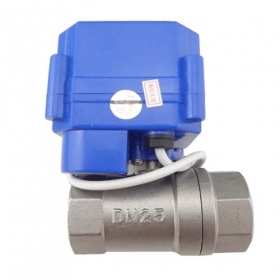 "MISOL 10 pcs of motorized ball valve DN25 (G1"" , BSP, reduce port), with manual switch, 2 way, electrical valve, Stainless steel"