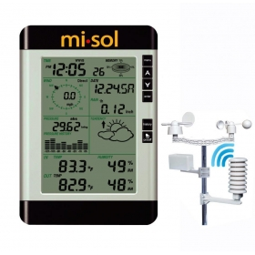 Pro Wireless Weather Station with PC interface, temperature, humidity, wind speed, wind direction, pressure, rain meter