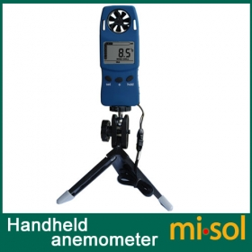 misol Handheld Anemometer with Tripod, wind speed wind chill thermometer