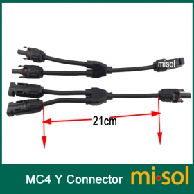 MISOL 5 pcs of Y branch MC4 Parallel connector Adapter 1M2F+2M1F, TUV certification