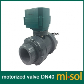 "MISOL motorized pvc valve 12V, DN40 BSP(1.5""), PVC valve, 2 way, electrical pvc valve, CR01"