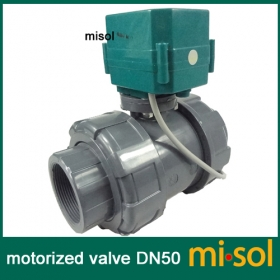 "MISOL motorized pvc valve 12V, DN50 (BSP, 2""), PVC valve, 2 way, electrical pvc valve, CR01"