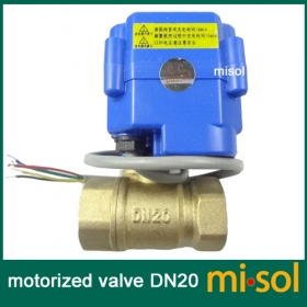 "MISOL motorized valve brass, G3/4"" DN20, 2 way, CR05, electrical valve, motorized ball valve"