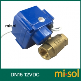 MISOL 1pcs of Motorized ball valve DN15; electrical valve manual switch; ball valve electric