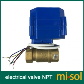 MISOL 10PCS of 110V motorized ball valve,DN20 (NPT) brass,2 way, electrical valve, motorized valve