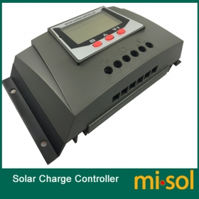 MISOL solar regulator 30A 12V 24v solar charge controller PWM, for solar panel battery charging