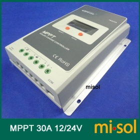 MISOL Tracer MPPT Solar regulator 30A, 12/24v, Solar Charge Controller 30A, NEW