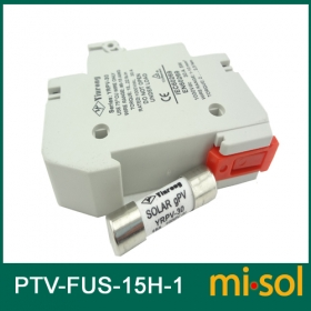 MISOL/1 unit of PV solar fuse 15a 1000VDC fusible 10x38 gPV, with holder