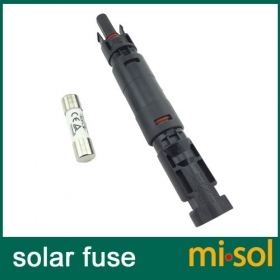 MISOL/10 units of PV solar fuse 10a 1000VDC fusible 10x38 gPV, with holder MC4 connector