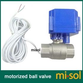 "stainless steel electrical motorized ball valve 3//4"" NPT DN20,2 way 12VDC CR04"