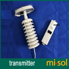 MISOL/Spare part for weather station (Transmitter / thermo hygro sensor) 433Mhz, with solar panel
