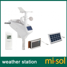 MISOL/Professional weather station WCDMA/GSM, data upload to wunderground, SMS message